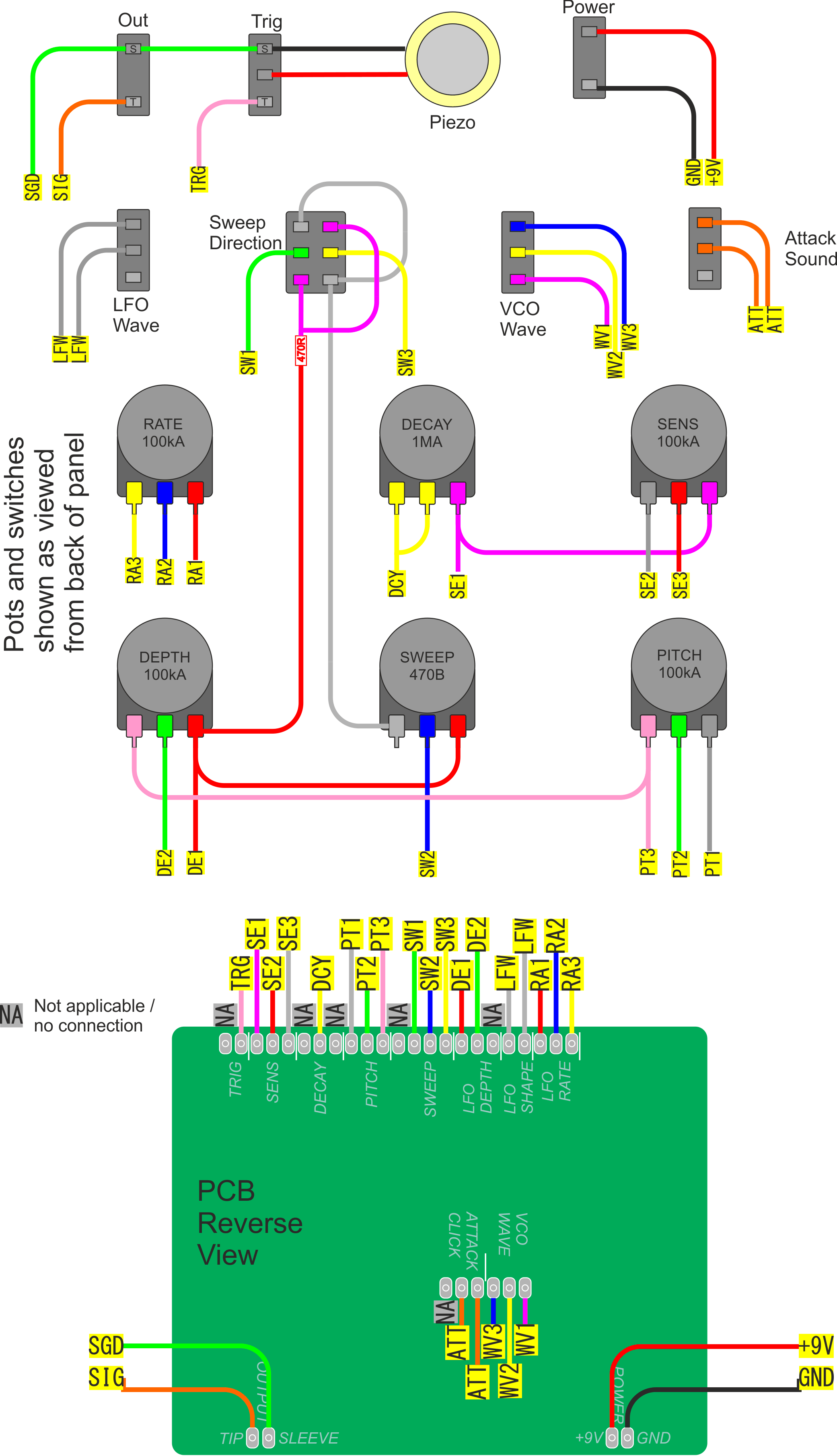 Pclone2 Build Here Is The Wiring Diagram Each Wire Labeled Where Goes Before We Start In Case You Need To Refer It Click